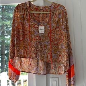 Long sleeve boho shirt